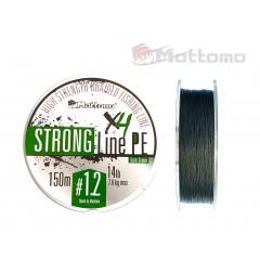 Плетеный шнур Mottomo Strong Line PE Dark Green #1.2/7kg 150m