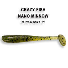 Виброхвост Crazy Fish NANO MINNOW 6-4-16-6