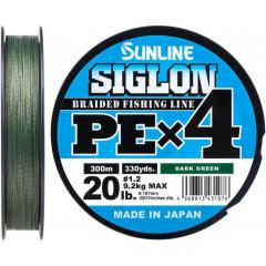 Плетёный шнур Sunline SIGLON PEx4 Dark Green 300m #1.2/20lb