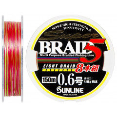 Плетеный шнур Sunline BRAID 5 8 BRAID 150m #1 0.165mm 6.1кг
