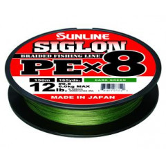 Плетёный шнур Sunline SIGLON PEx8 Dark Green 150m #0.3/5lb