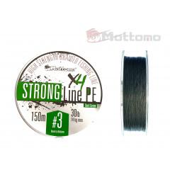 Плетеный шнур Mottomo Strong Line PE Dark Green #3.0/14kg 150m