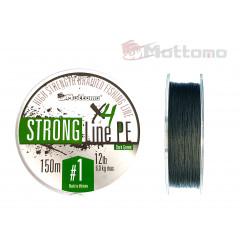 Плетеный шнур Mottomo Strong Line PE Dark Green #1.0/6kg 150m