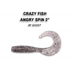 "Твистер Crazy Fish ANGRY SPIN 2"" 21-4.5-7-6"