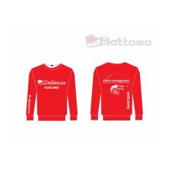 Свитшот с логотипом Mottomo, цв. красный, р-р M (48)