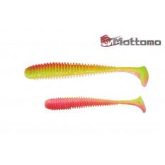 Виброхвост Mottomo Noise 12,5см Chartreuse Orange 4шт.