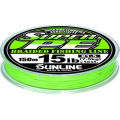 Плетёный шнур Sunline NEW SUPER PE Light Green 150m #3.0/30lb