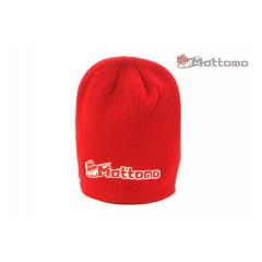 Шапка с логотипом Mottomo красная