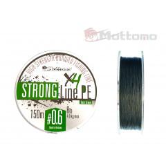 Плетеный шнур Mottomo Strong Line PE Dark Green #0.6/4kg 150m