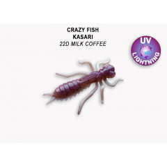 "Личинка Crazy Fish KASARI 1.6"" 51-40-22d-7"
