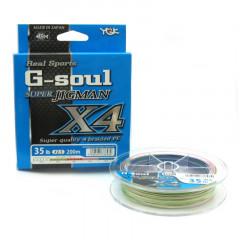 Плетёный шнур YGK G-Soul Super Jig Man X4 200m #0.5/10lb