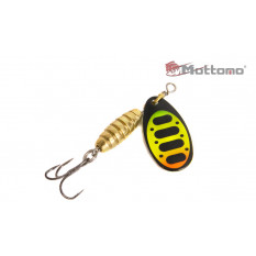Блесна Mottomo Bug Blade #1 5.5g Fire Tiger 54