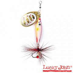 Блесна вращающаяся Lucky John Trian Blade Round 6 гр, цвет 002