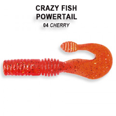 Твистер Crazy Fish POWERTAIL 4-7-4-4
