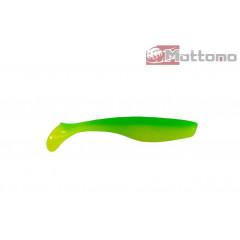 Виброхвост Mottomo Hitman 9см Yellow Green 6шт.
