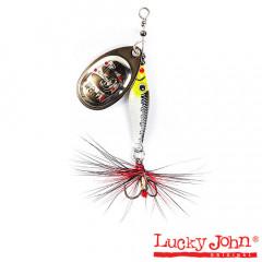 Блесна вращающаяся Lucky John Trian Blade Round 9 гр, цвет 004