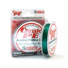 Шнур плетеный Fanatik Classic PE X4 100м #1.2 0.18мм 9кг Green