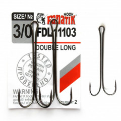 Двойной крючок Fanatik FDL-11103 №3/0 (2 шт.)