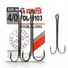 Двойной крючок Fanatik FDL-11103 №4/0 (2 шт.)