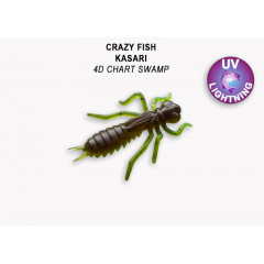"Личинка Crazy Fish KASARI 1.6"" 51-40-4d-7-F"