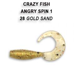 "Твистер Crazy Fish ANGRY SPIN 1"" 20-2.5-28-4"