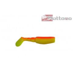 Виброхвост Mottomo X-JIG 7см Chartreuse Firebrick 10шт.
