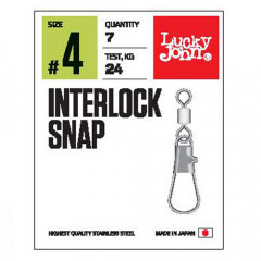 Застежки Lucky John Pro Series INTERLOCK SNAP 006 10шт.