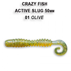 """Силиконовая приманка Crazy Fish Active slug 2"""" 29-50-1-6"""