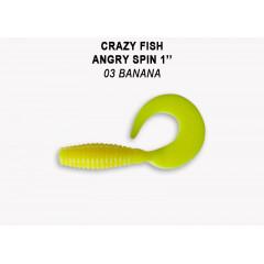 "Твистер Crazy Fish ANGRY SPIN 1"" 20-2.5-3-6"