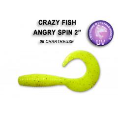 "Твистер Crazy Fish ANGRY SPIN 2"" 21-4.5-6-6"