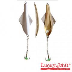 Блесна вертикальная зимняя Lucky John GLIDER с цеп. и тр.10.0г GS блистер