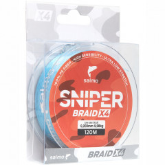 Плетеный шнур Salmo Sniper BRAID Blue 091/026