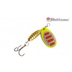 Блесна Mottomo Bug Blade #0 3.5g Fluo 46