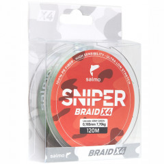 Плетеный шнур Salmo Sniper BRAID Army Green 120/026