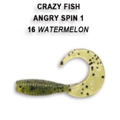 "Твистер Crazy Fish ANGRY SPIN 1"" 20-2.5-16-4"