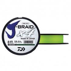 Плетеный шнур Daiwa J-Braid X4 Fluo Yellow 0.07mm/135m