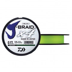 Плетеный шнур Daiwa J-Braid X4 Fluo Yellow 0.07mm/135m