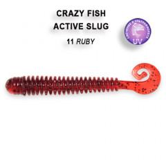 """Силиконовая приманка Crazy Fish Active slug 2.8"""" 2-71-11-4"""