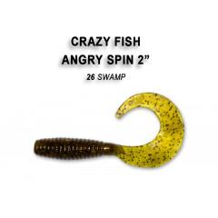 "Твистер Crazy Fish ANGRY SPIN 2"" 21-4.5-26-6"
