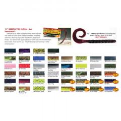 """Силиконовая приманка Strike King 3X Ribbon Tail Worm 7.5"""" цвет 18 Watermelon Red Flake"""