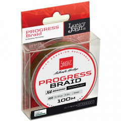 Плетеный шнур Lucky John Progress BRAID Green 100/013