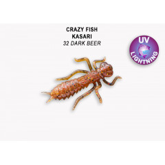 "Личинка Crazy Fish KASARI 1.6"" 51-40-32-7-F"