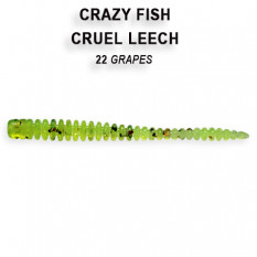 Мягкая приманка Crazy Fish CRUEL LEECH 8-5.5-22-6