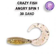 "Твистер Crazy Fish ANGRY SPIN 1"" 20-2.5-30-3"