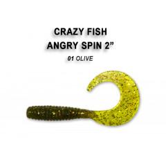 "Твистер Crazy Fish ANGRY SPIN 2"" 21-4.5-1-6"