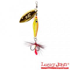 Блесна вращающаяся Lucky John Trian Blade Long 9 гр, цвет 001