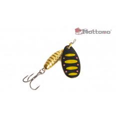 Блесна Mottomo Bug Blade #0 3.5g Black 44