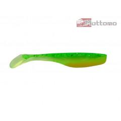 Виброхвост Mottomo Hitman 9см Chartreuse Olive Drab 10шт.