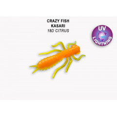 "Личинка Crazy Fish KASARI 1.6"" 51-40-18d-7"