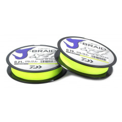 Плетеный шнур Daiwa J-Braid X4 Fluo Yellow 0.10mm/270m